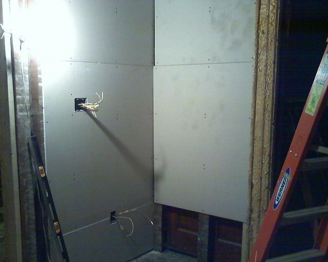 Hanging drywall downstairs flickr photo sharing