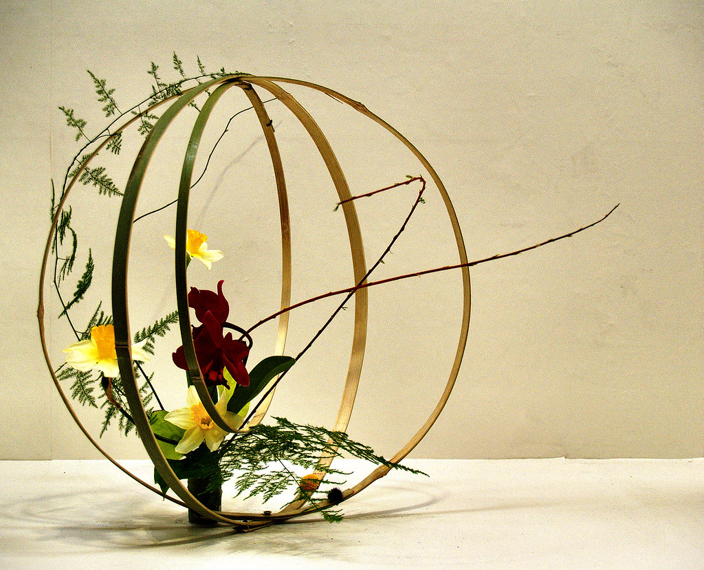 Ikebana: flower arrangement 6 by M. TANIGUCHI on Flickr