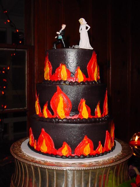 Flame Wedding Cake Flickr Photo Sharing