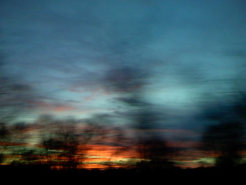 sunset sky movement highway redsky unscharf a9 bewegungsunschärfe ontherun iflickr coloredsky