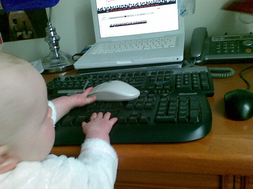 Zoe at the computer 1