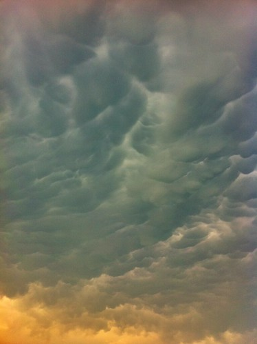 crazy Dallas clouds