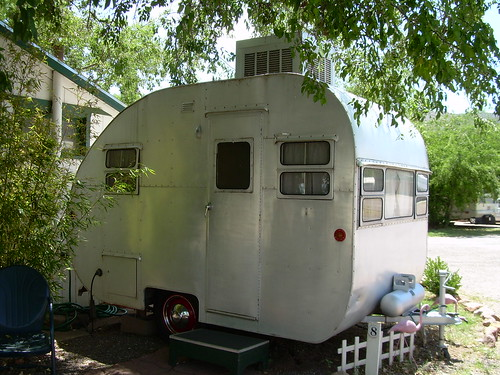 1952 Vintage Homemade Travel Trailer at the Shady Dell