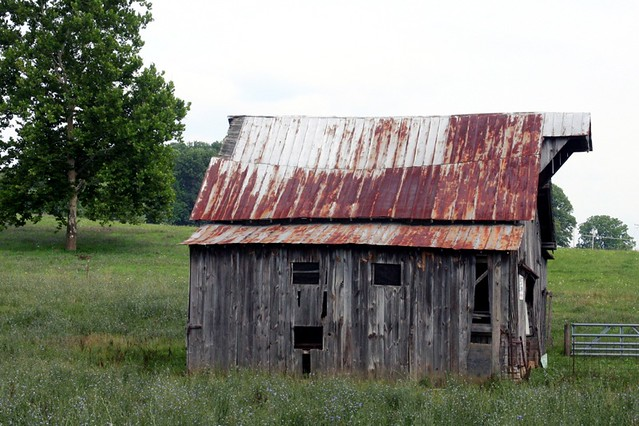 Barn With Rusted Tin Roof Flickr Photo Sharing