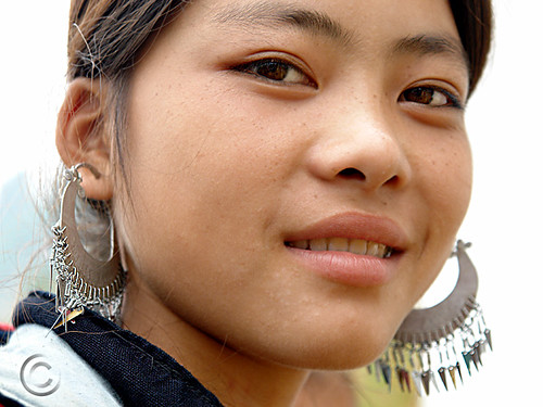 Black Hmong young woman, Sapa Vietnam