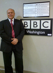 Mahmood Al-Yousif at the BBC bureau in Washington DC
