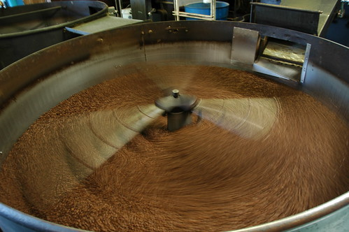 Coffee Roaster, stirring coffee like a helicopter, Los Angeles, California, USA by Wonderlane