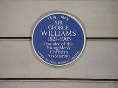 Photo of George Williams blue plaque