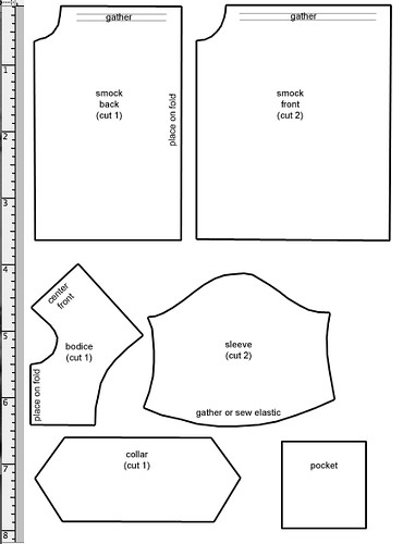 Smock Pattern Printable Pdf La Dollce Vita Com Patterns