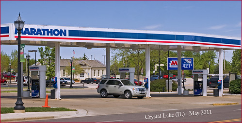 $4.22 Per Gallon Gas -- Marathon Gas Staton Crystal Lake (IL) May 2011 | by Ron Cogswell