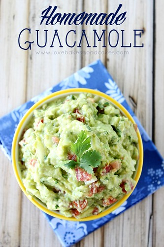 Homemade Guacamole is so easy to make at home - and it's ridiculously good! #avocado #Mexican