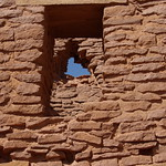 Wukoki Ruins - Ancestral Puebloan windows