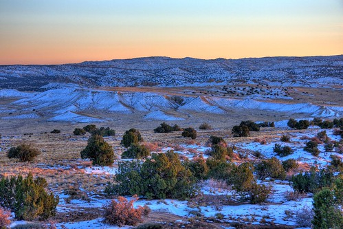 sunset sky snow newmexico desert sunsets wilderness hdr ojito ojitowilderness