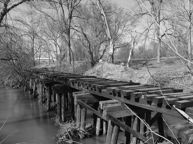 2008 Abandoned Railroad Tracks B&W, Greenville, SC