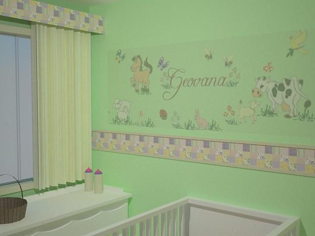 Quarto de Bebê O tema Fazendinha deu o tom da decoração  ~ Quarto Tema Verde