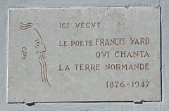 Photo of Francis Yard marble plaque