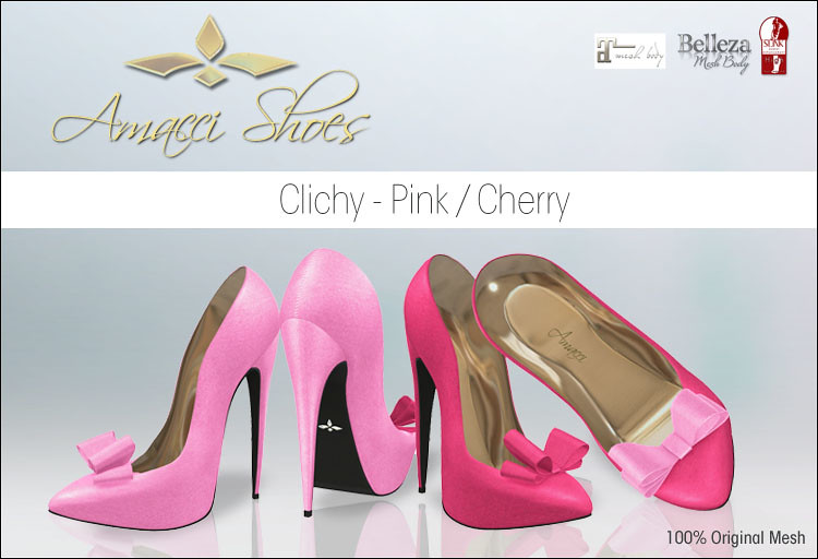 Amacci Shoes Clichy Pink - SecondLifeHub.com