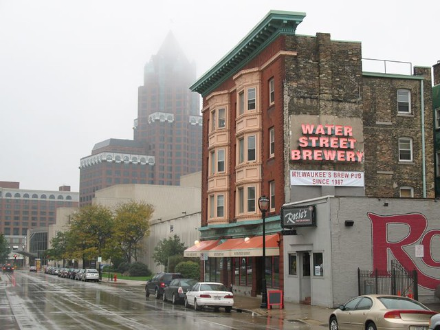 Water Street in the Rain on a Late Sunday Afternoon in Mid-October