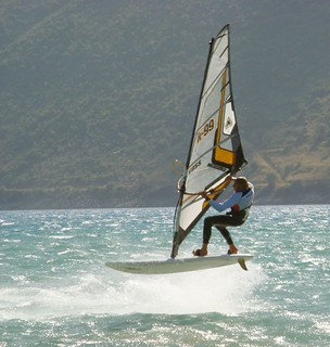Windsurfing action at Club Vass