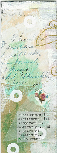 Bookmark with a quote by Bennett