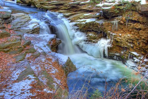 park winter usa landscape geotagged waterfall pennsylvania falls pa scranton hdr nayaug 3xp nikon18200vr