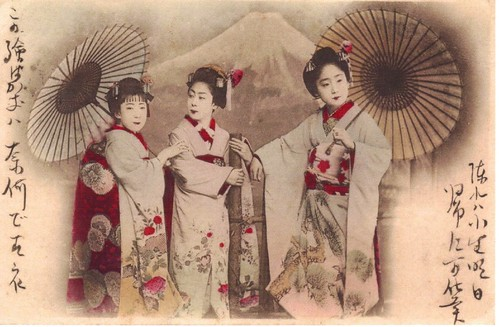 Geishas and Fuji-san