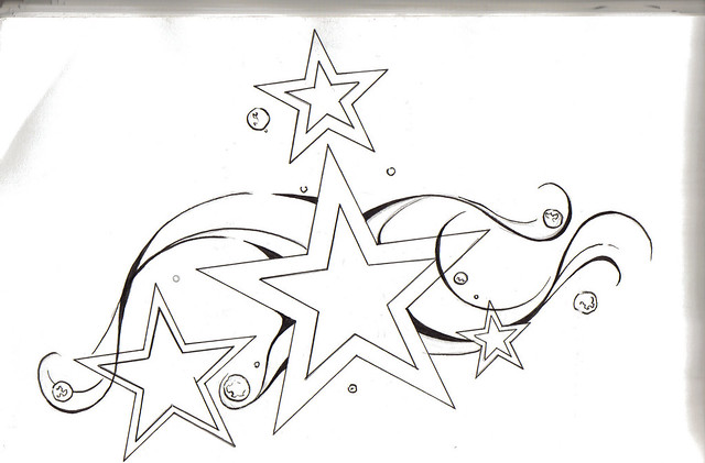 star outline tattoo