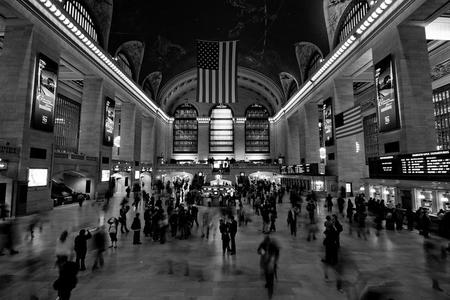 photoGrand Central Station Clock Black And White