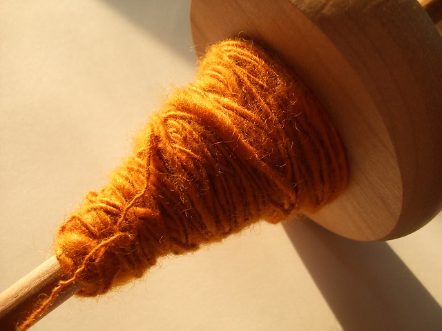 Turmeric Dyed BFL wool/Soy Silk