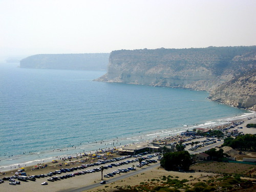 View of Episkopi Bay from the bluff - Ancient Kourion, Cyprus