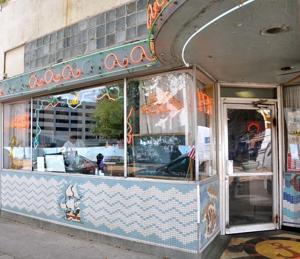 Mayflower Cafe Front Window