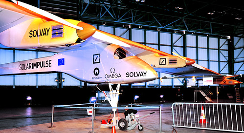 Visit to Solar Impulse, the Zero Fuel Airplane