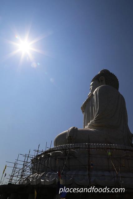 phuket big buddha sunlight