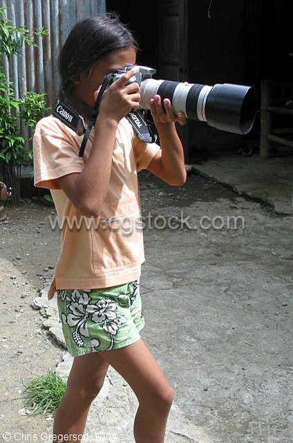 Filipina Girl with Digital Camera