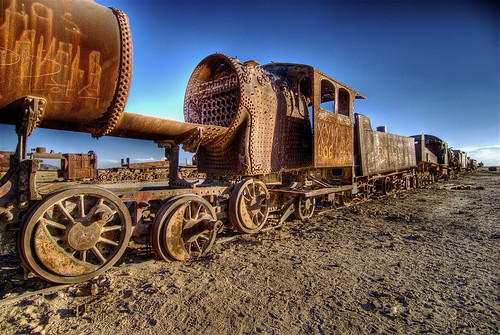 Train on desert