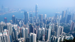 Hong Kong skyline from the Peak by xopherlance