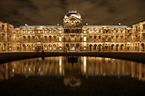 Cour carrée du Louvre *by night*, Paris