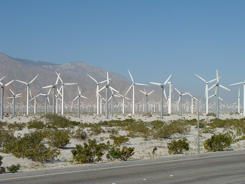 Wind farm, Palm Springs, CA