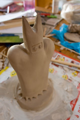carving(0.0), cake(0.0), baking(0.0), food(0.0), icing(0.0), ceramic(0.0), art(1.0), clay(1.0), sculpture(1.0), fondant(1.0), cake decorating(1.0),