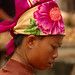Colorful Headscarf, Menghun Market - Xishuangbanna, China
