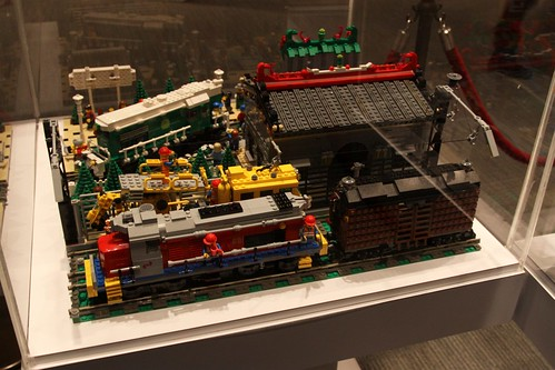 Lego model of the Hong Kong Railway Museum
