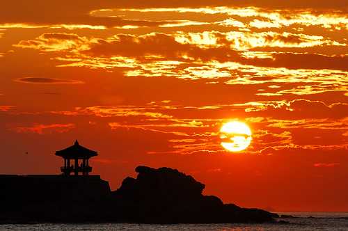 travel red sea sky sun beach water clouds sunrise nikon korea busan sillhouette kfa 70200vr 35faves 25faves mywinners abigfave
