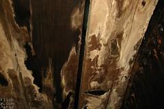 Rotten floor boards.