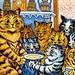 Hungry Kitties - Louis Wain by Jane in Catland - ON TEMP. BREAK