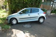 automobile, family car, wheel, peugeot 207, vehicle, subcompact car, peugeot 206, city car, bumper, land vehicle, hatchback,