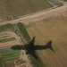 Plane's own approaching shadow, landing in Barcelona (180_8009)