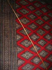 Bamboo pole on carpet #1