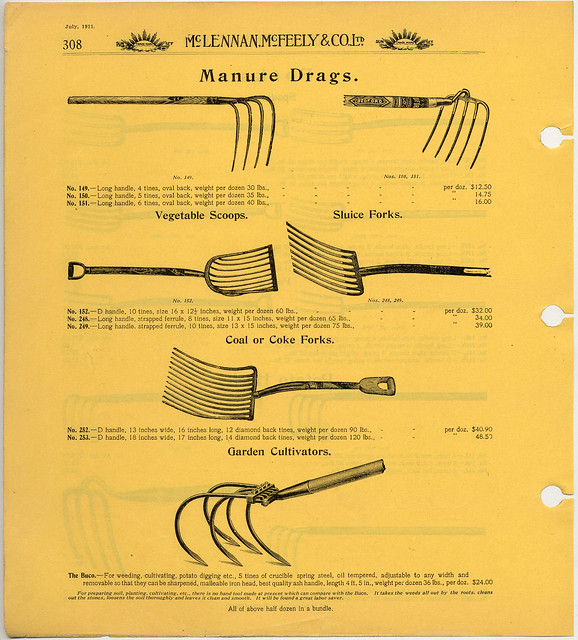 Mclennan mcfeely co ltd catalogue 1908 1914 page for Gardening tools 94 game answers