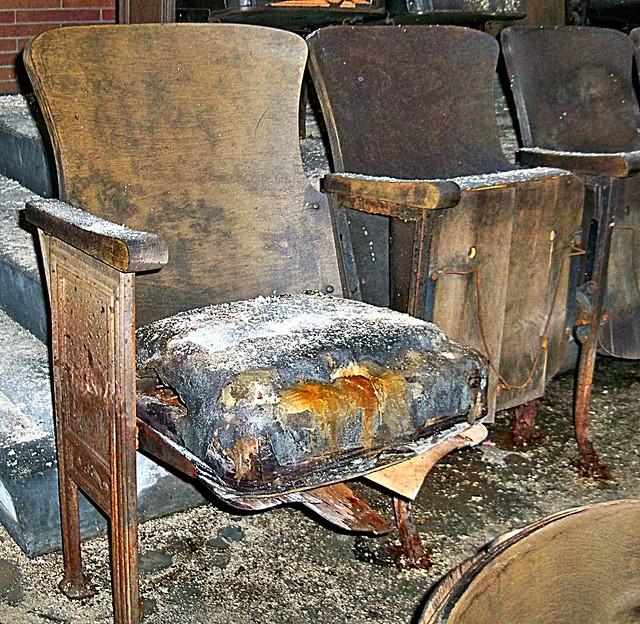 Abandoned Pennsylvania: Theater Seating at The Scranton Lace Factory