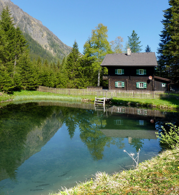 The beautiful Christlhaus and freshwater trout